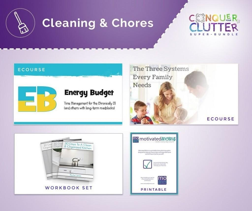 cleaning and chores bundle