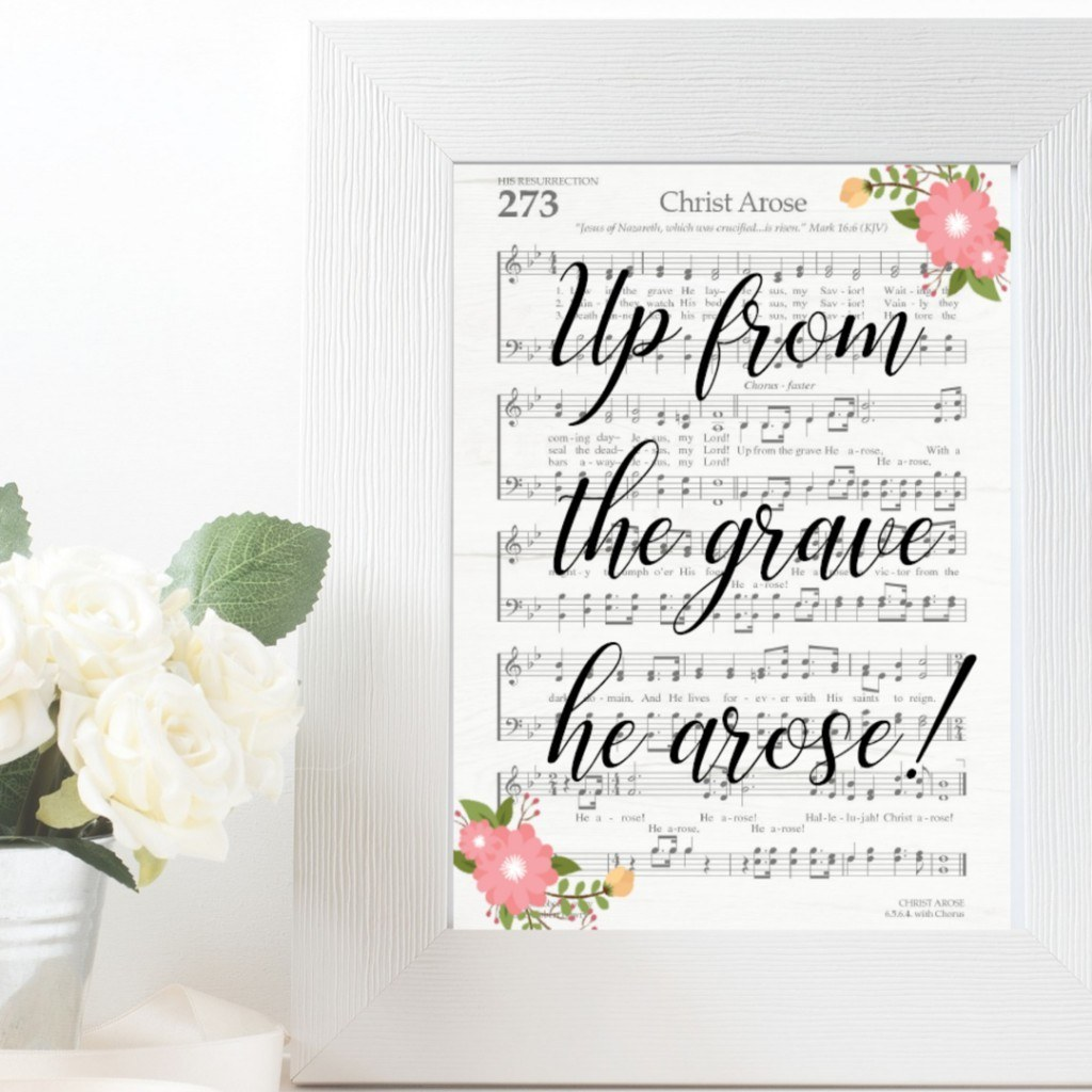 up from the grave he arose hymn art